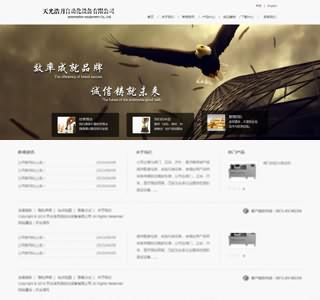 大气的自动化设备网站模板